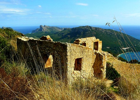 Ruin, Landscape, Holiday, Travel, Stone, Leave