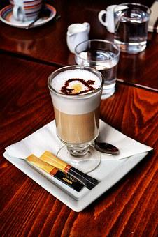Coffee, Latte, Latte Machiatto, Foam, Sugar, Table