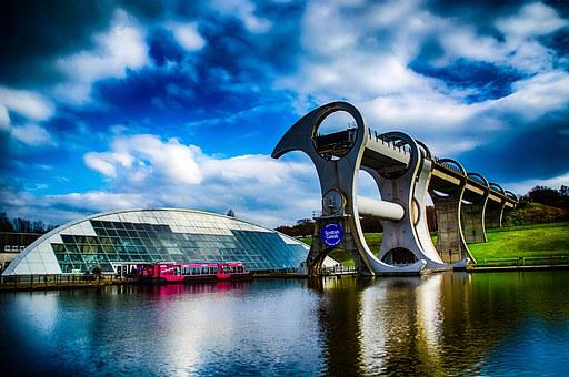 Falkirk, Wheel, Canal, Engineering, Lift, Scotland