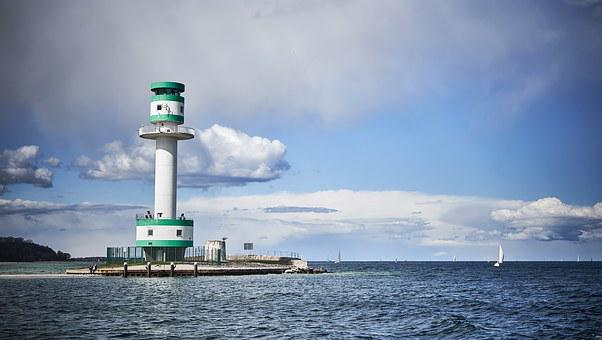 Falkenstein, Kiel, Lighthouse, Kieler Firth, Fjord