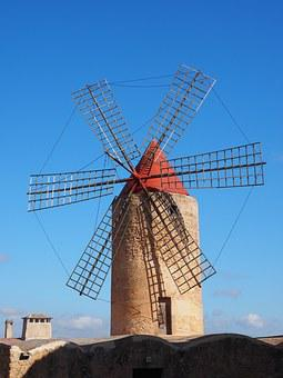 Windmill, Algaida, Mallorca, Landmark