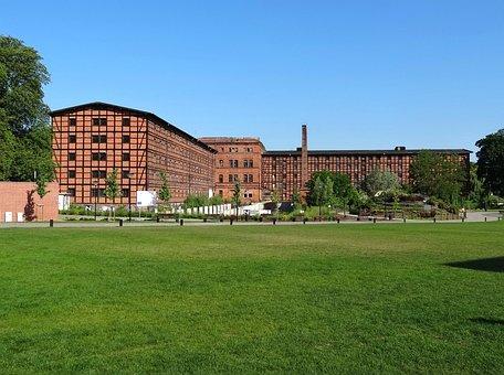 Mill Island, Bydgoszczy, Poland, Meadow, Park, Building