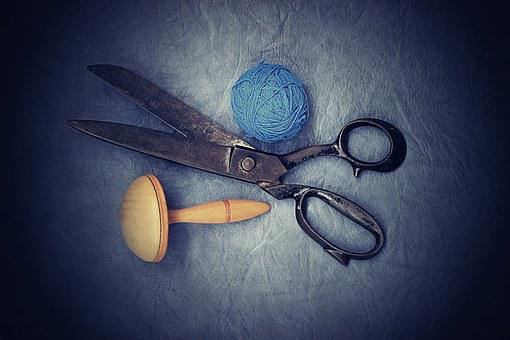 Scissors, Old, Sewing, On Peace, Work, Couture, Dress
