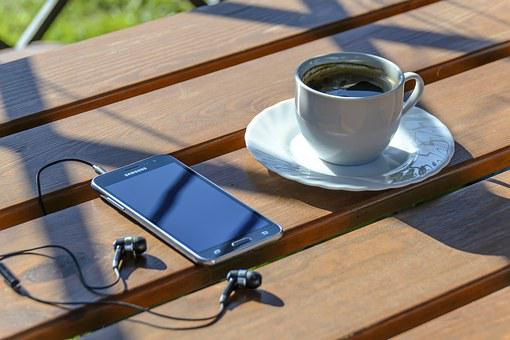 Relaxation, Coffee, Smartphone, Music, Relax, Rest
