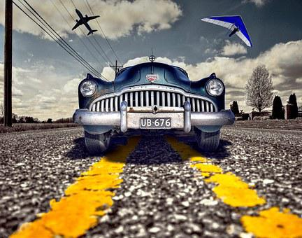 Car, Buick, Classic Cars, Russian, Glider, Hang-glider