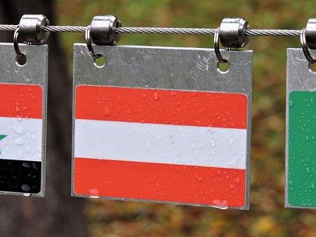Austrian Flag, Autumn, Imst, Sos Children's Village