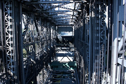 Boat Lift, Engineering Art, Steel, Metal, Steel Rivets