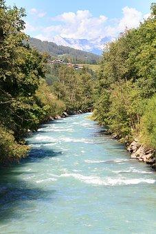 Bach, Ruetzbach, Stubaital, Stubai, Water, Flow, Nature
