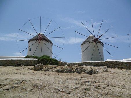 Windmill, Holiday, Landmark, Summer, Travel, Tourism