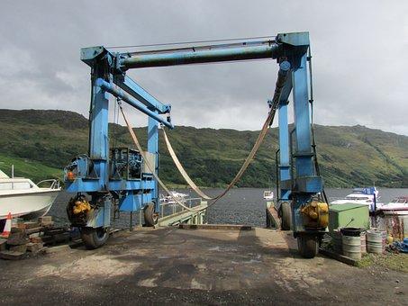 Boat Lift, Scotland, Boat Hoist, Trossachs, Loch Lomond