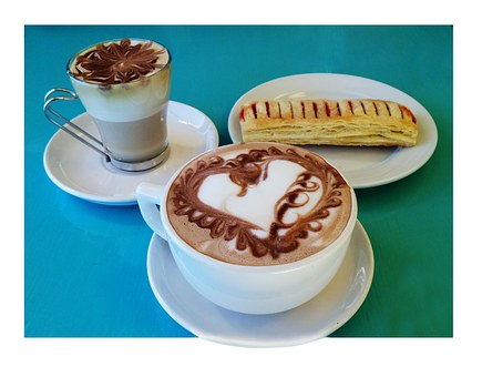 Treats For Two, Coffee, Mocha, Bakery, Turnover