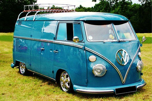 Volkswagen, Panel, Van, Camper, Vw, Retro, Old, Family