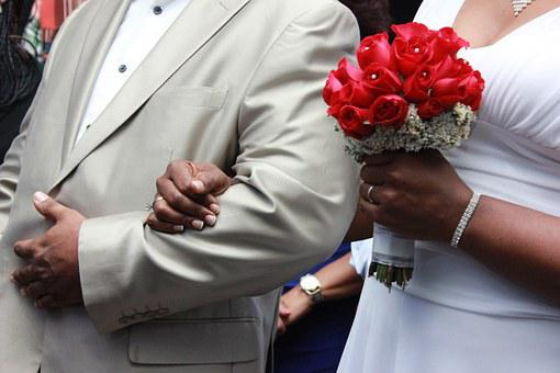 Wedding, Grooms, Roses, Flowers, Hand, Seized, Love