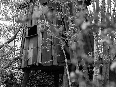 Treehouse, Nature, Play, Wood, Tree, Kids, Fun