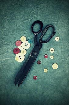 Scissors, Old, Sewing, On Peace, Work, Dress, Haute