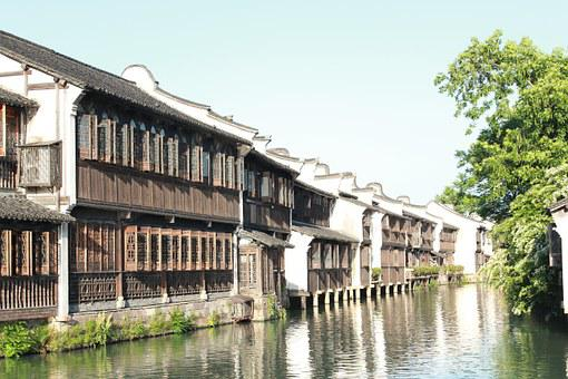 Wuzhen, Zhejiang, West Gate, Jiangnan, Watertown, Retro