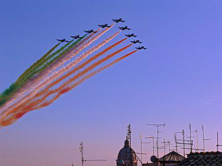 Fliegerstaffel, Flag, Flugshow, Air Show, R, Aerobatics