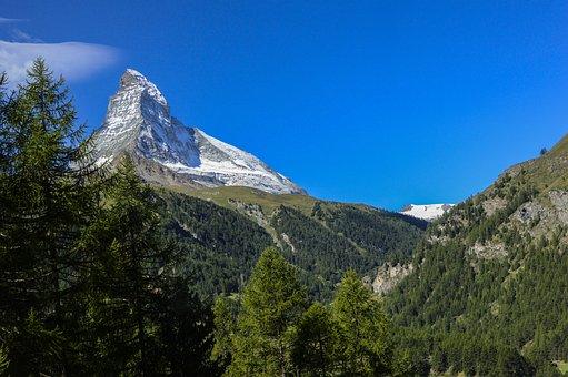Matterhorn, Summit, Mountain, Alpine, Switzerland