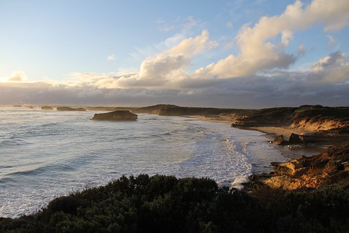 Ocean, Australia, Sea, Landscape, Road, Victoria, Great