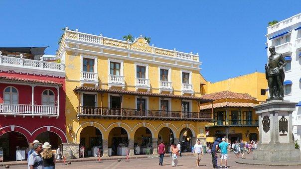 Caribbean, Colombia, Cartagena, Vacations, Castle