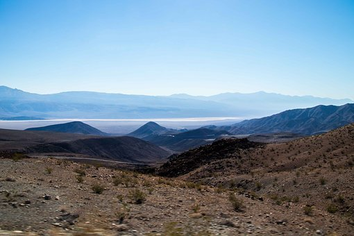Valley, Death, Desert, Nevada, Usa, Dry, Hot