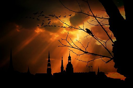Dusk, City View, City Panorama, Architecture, City