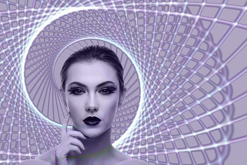 Spiral, Woman, Face, Head, Circle, Identity, Search