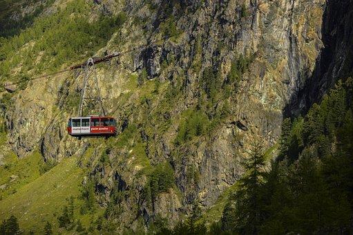 Cable Car, Alpine, Swiss Alps, Zermatt, Gondola, Nature