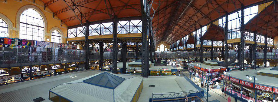 Budapest, Great Market Hall, Hungary, Building