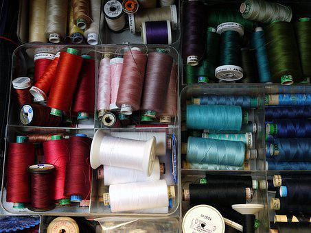 Sew, Yarn, Thread, Nähutensilien, Bobbin, Haberdashery