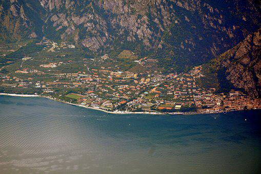 Lake, Garda, Italy, Lemon On Garda, Country, Houses