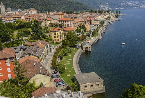 Cannobio, Panorama, Lago Maggiore, Lago, Blue Sky