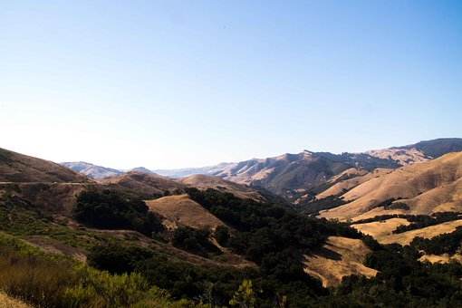 Mountains, California, Highway, Wide, Overview, Outlook