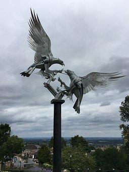 Sculpture, Birds, Malvern, Statue, Nature, Animal
