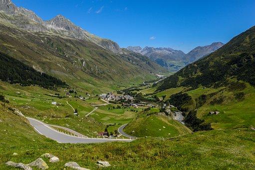 Gotthard, Gotthard Pass, Alpine, Landscape, Pass