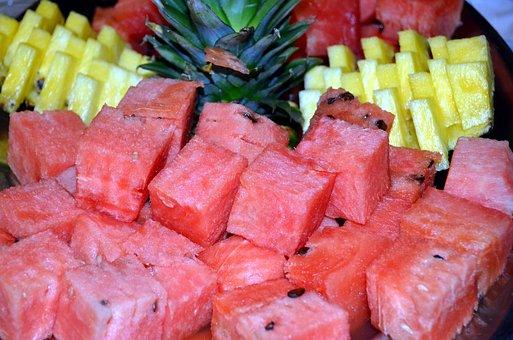 Fruit, Watermelon, Pineapple