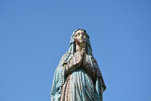 Statue Holy Virgin, Mary, Religious Figure