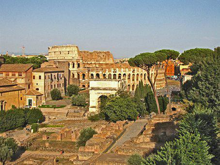 Rome, Colosseum, Italy, The Ruins Of The, Antiquity