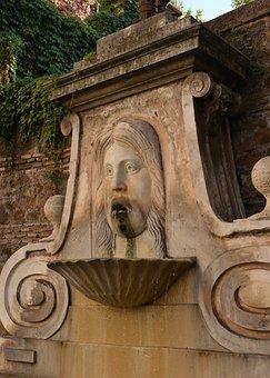 Fountain In Via Giulia Rome, Fountain, Rome