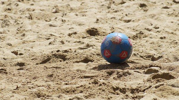 Soccer, Beach, Summer, Game, Sea, Sand, Brown Game
