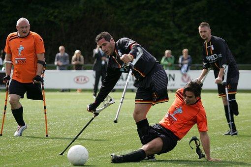 Football, Game, Amputation, Handicap, Sports, Team