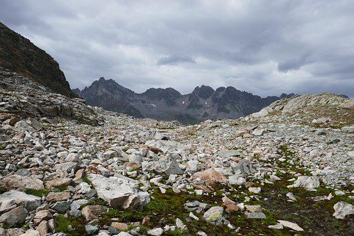 Mountains, Stones, Nature, Clouds, Rock, Sky, Boulders