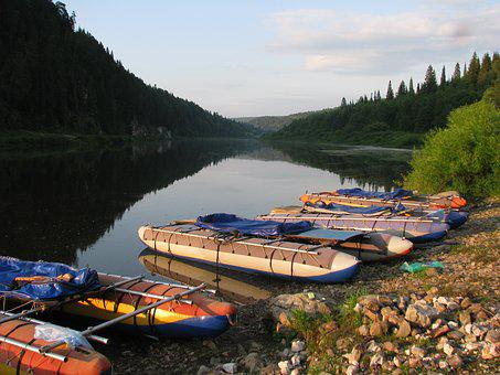 The Chusovaya River, Perm Krai, Summer, Sky, Russia