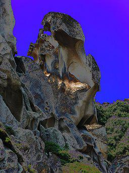 Rock Figure, Vulture, The Witch, Sardinia