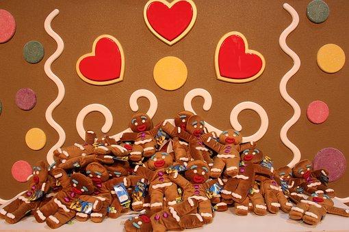 Gingerbread, Christmas, Winter, Food, Sweet