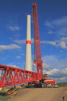 Wind Turbine, Wind Park, Crane, Autokran, Liebherr