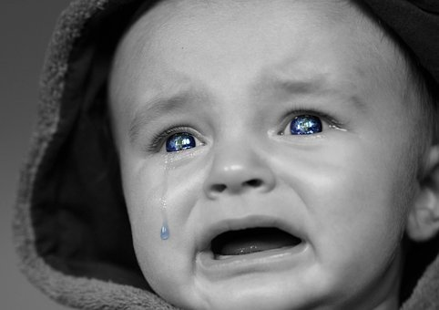 Crying Baby, Baby, Face, Expression, Portrait, Unhappy
