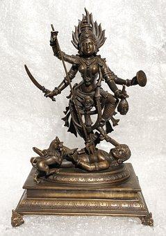 Minature Bronze, Goddess, Dur, Mahishasuramardini
