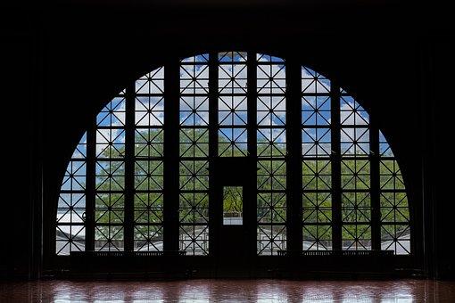 Ellis Island, Silhouette, Nyc, Black Island