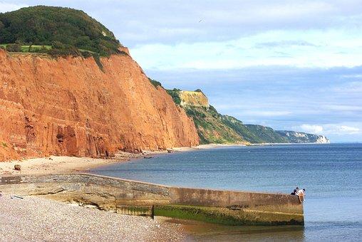 Jurassic Coast, Sidmouth, Devon, England, Summer